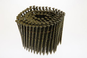 "2-1/2"" x .113"" 15-Degree Wire Coil Nails - 304 Stainless Steel, Ring Shank (3,600 Pcs./Box), Grip Rite #MAXC62825"