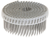 "1-3/4"" x .092"" 15-Degree Plastic Sheet Coil Nails - Electrogalvanized, Ring Shank (6,000 Pcs./Box)"