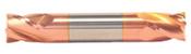 "5/32"" Cut Dia x 5/16"" Flute Length x 2"" OAL Solid Carbide End Mills, Stub Length, Double End Square, 2 Flute, TiCN Coated (Qty. 1)"