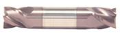 "7/64"" Cut Dia x 7/32"" Flute Length x 1-1/2"" OAL Solid Carbide End Mills, Stub Length, Double End Square, 2 Flute, AlTiN - Hard Coat (Qty. 1)"