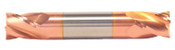 "5/32"" Cut Dia x 5/16"" Flute Length x 2"" OAL Solid Carbide End Mills, Stub Length, Double End Square, 4 Flute, TiCN Coated (Qty. 1)"