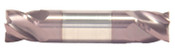 "7/32"" Cut Dia x 3/8"" Flute Length x 2-1/2"" OAL Solid Carbide End Mills, Stub Length, Double End Square, 4 Flute, AlTiN - Hard Coat (Qty. 1)"