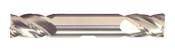 "9/16"" Cut Dia x 5/8"" Shank Diameter x 1-1/4"" Flute Length x 5"" OAL Solid Carbide End Mills, Double End Square - w/ Weldon Flats, 4 Flute, Uncoated (Qty. 1)"