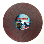 "14"" x 3/32"" x 1"" Redmax Stud Cutter Wheel - Double Reinforced, Mercer Abrasives 602030 (10/Pkg.)"