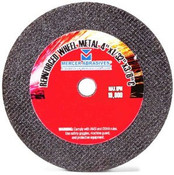 "4"" x 1/8"" x 3/8"" Coarse Grade Small Diameter Double Reinforced High-Speed Cut-Off Wheel, Mercer Abrasives 614240 (50/Pkg.)"
