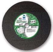 "4"" x 3/32"" x 5/8"" Coarse Grade Small Diameter Double Reinforced High-Speed Masonry Cut-Off Wheel, Mercer Abrasives 614300 (50/Pkg.)"