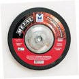 "5"" x 1/4"" x 7/8"" A24S T27 Depressed Center Grinding Wheel - Dual Grit, Mercer Abrasives 620100 (25/Pkg.)"