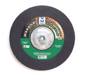 "4"" x 1/4"" x 5/8"" C24S T27 Depressed Center Grinding Wheel for Masonry - Single Grit, Mercer Abrasives 621030 (25/Pkg.)"