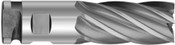 "2-1/2"" Cut Dia x 2-1/2"" Shank Dia x 12"" Cut Length x 16"" OAL M-7 HSS Heavy Duty Sure-Lock End Mills, 6 Flute, Center Cut, TiN Coated (Qty. 1)"