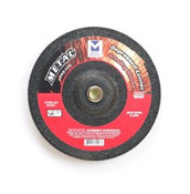 "4"" x 1/4"" x 5/8"" A24U T27 Depressed Center Grinding Wheel - Single Grit, Mercer Abrasives 624010 (25/Pkg.)"