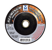"5"" x 1/4"" x 5/8""-11 AC24R T27 Premium Depressed Center Grinding Wheel - Single Grit, Mercer Abrasives 627090  (20/Pkg.)"