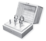 """Solid Carbide Countersink Set, 3 Flute, 90 Degree (1/4"""", 3/8"""", 1/2"""", 3/4"""" & 1"""" w/ Wood Box)"""