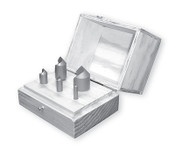 "R-240 HSS Countersink Set, Single Flute, 60 Degree (3/16"", 1/4"", 5/16"", 3/8"", 1/2"", 5/8"", 3/4"" & 1"" w/ Wood Box)"