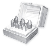 "R-270 HSS Countersink Set, 3 Flute, 82 Degree (1/4"", 3/8"", 1/2"", 3/4"" & 1"" w/ Wood Box)"