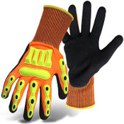 Sandy nitrile palm glove from Boss's Barbarian line.