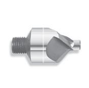 "90 Degree Carbide Micro Stop Countersink, 3 Flute, 1/2"" Body Dia., .0938-.1285 Pilot Range, 1/4-28 Thread (Qty. 1)"