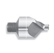 "100 Degree Carbide Micro Stop Countersink, 3 Flute, 3/8"" Body Dia., .0938-.1285 Pilot Range, 1/4-28 Thread (Qty. 1)"