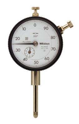 "Dial Indicator, Series 2 Standard, Inch Reading, Jeweled Bearings, 1"" Range"