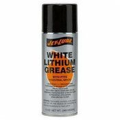 Jet Lube White Lithium Grease in convenient aerosol can.