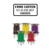 "Powers Fasteners - 07567-PWR - 1/2"" Wood Knocker Concrete Deck Insert-CT, Yellow (200/Pkg.)"
