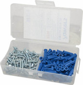 "Powers Fasteners - 08938-PWR - 8938 Bantam Plug Kit #10-12 w/ #12 x 1"" Screws (Bulk - 10 Kits)"