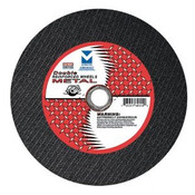 "12"" x1/8"" (5/32"") x 1"", 20 mm Cut-Off Wheels with Dual Arbors for Portable Gas Saw - Double Reinforced,  Mercer Abrasives 604050 (10/Pkg.)"