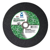"14"" x 1/8""(5/32) x 1"", 20mm Cut-Off Wheel with Dual Arbors for Portable Gas Saw - Double Reinforced - Masonry, Mercer Abrasives 605060 (10/Pkg.)"