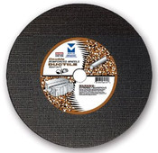 "12"" x 1/8""(5/32) x 1"" Cut-Off Wheel for Portable Gas Saw - Double Reinforced - Ductile,  Mercer Abrasives 606010 (10/Pkg)"