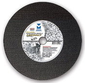 "14"" x 3/16"" x 1"" DPH Walk-Behind Street Saw Wheels with Drive Pin Hole for Asphalt,  Mercer Abrasives 610040 (5/Pkg.)"