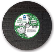 "4-1/2"" x 1/8"" x 7/8"" Coarse Grade Small Diameter Double Reinforced High-Speed Masonry Cut-Off Wheel, Mercer Abrasives 615320 (20/Pkg.)"