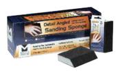 """Detail Angled Sanding Sponges - 4-7/8"""" x 2-7/8"""" x 1"""", Grade: Medium, Grit: 120, Mercer Abrasives 282AMEB (72/Bulk Pkg.)"""