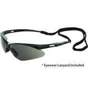 Octane Anti-Fog Wraparound Safety Glasses w/Lanyard, Black Frame/Gray Lens 15327 (12 Pr.)