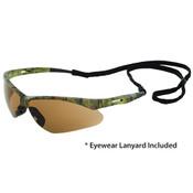 Octane Anti-Fog Wraparound Safety Glasses w/Lanyard, Camo/Brown Smoke 15337 (12 Pr.)