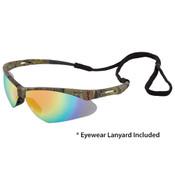 Octane Wraparound Safety Glasses w/Lanyard, Camo/Hi-Res. Red 15340 (12 Pr.)
