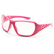 ERB Rose Series Pink Rhinestone Safety Glasses, Clear Lens 17953 (12 Pr.)