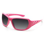 ERB Rose Series Pink Rhinestone Safety Glasses, Smoke Lens 17954 (12 Pr.)