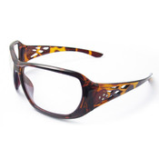 ERB Rose Series Tortoise Shell Rhinestone Safety Glasses, Clear Lens 17956 (12 Pr.)
