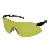 ERB Strikers Safety Glasses, Black/Silver Frame, Amber Lens 15422 (12 Pr.)