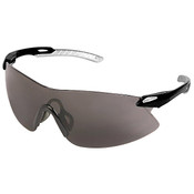 ERB Strikers Safety Glasses, Black/Silver Frame, Gray Lens 15421 (12 Pr.)