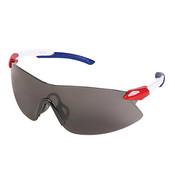 ERB Strikers Safety Glasses, Red/White/Blue Frame, Gray Lens 15428 (12 Pr.)