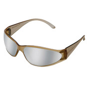 ERB Boas Original Safety Glasses, Brown Frame, Silver Mirror Lens 15406 (12 Pr.)
