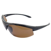 ERB Commandos Safety Glasses, Black Frame/Brown Smoke Polarized Lens 18617 (12 Pr.)