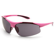 ERB Ella Safety Glasses, Pink Frame/Gray Anti-Fog Lens 18621 (12 Pr.)