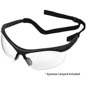 ERB X Bifocal Safety Glasses, Black/Clear, +2.0 Power 16872 (12 Pr.)