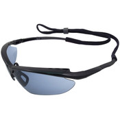 ERB Maltese Safety Glasses, Black Frame, Blue Mirror Lens 16858 (12 Pr.)