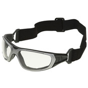 ERB NT2 Safety Glasses/Goggles, Gray w/ Clear Anti-Fog Lens, Notched Foam Lining (12 Pr.)