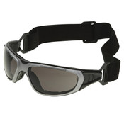 ERB NT2 Safety Glasses/Goggles, Gray w/ Smoke Anti-Fog Lens, Notched Foam Lining (12 Pr.)