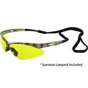 Octane Anti-Fog Wraparound Safety Glasses w/Lanyard, Camo/Amber 15339 (12 Pr.)