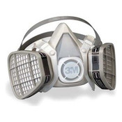 3M 5301 Half Facepiece Disposable Respirator for Organic Vapor, Large (1 Mask)