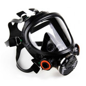 3M 7800S-M Full Facepiece Silicon Respirator, Reusable, Medium (1 Mask)